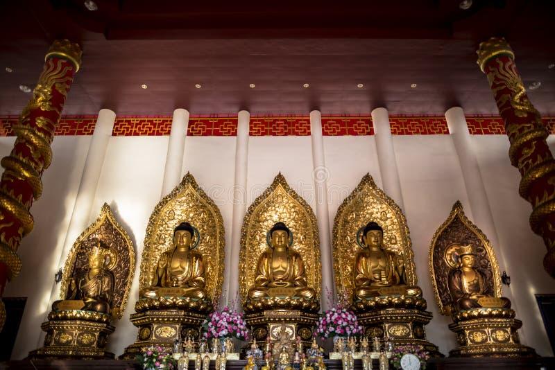 Wat Thawon Wararam är härlig och fridsam ställe ett kloster, i Hat Yai Songkhla Thailand arkivbild