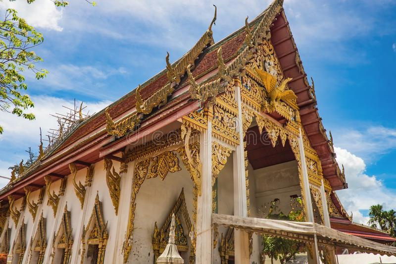 Wat Thong Khung Temple chez Samut Songkhram Thaïlande images stock