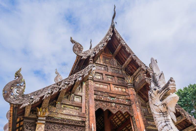 Wat Ton Kain, vecchio tempio in Chiang Mai Thailand fotografie stock