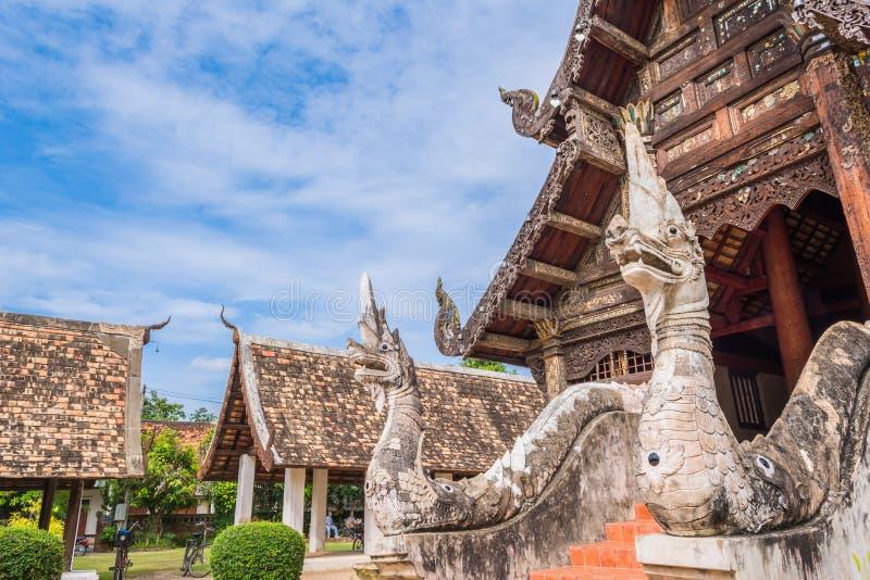 Wat Ton Kain, vecchio tempio in Chiang Mai Thailand fotografie stock libere da diritti