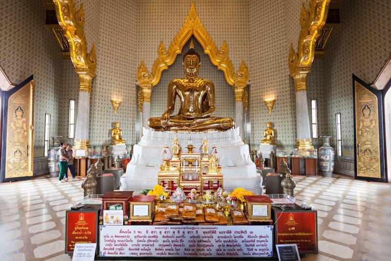 Wat Traimit,曼谷 库存照片