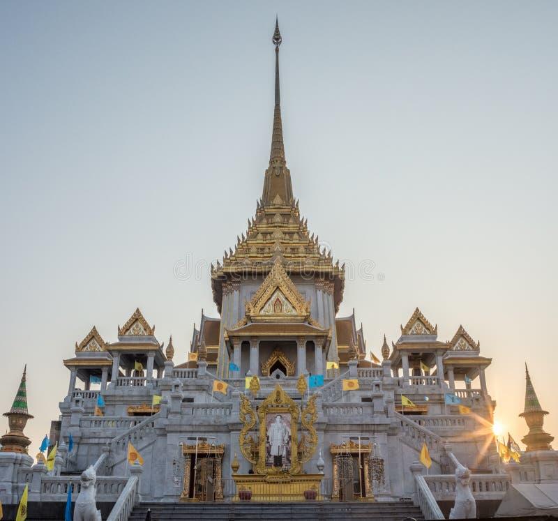 Wat Traimit,金黄菩萨的寺庙 库存照片