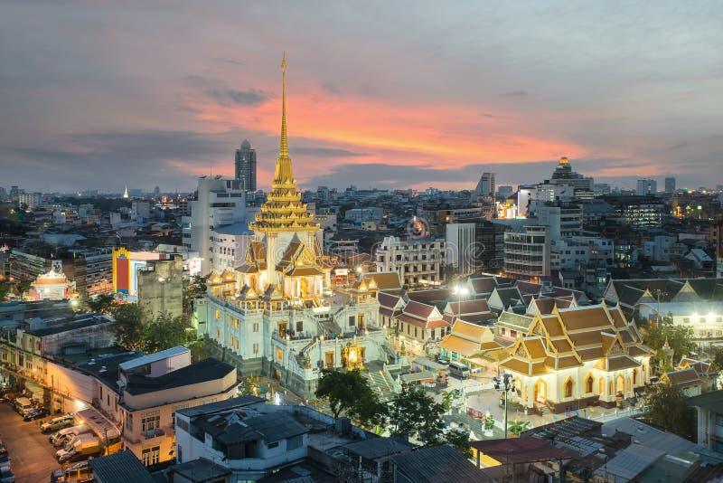 Wat Traimit в Бангкоке, Таиланде стоковое изображение rf