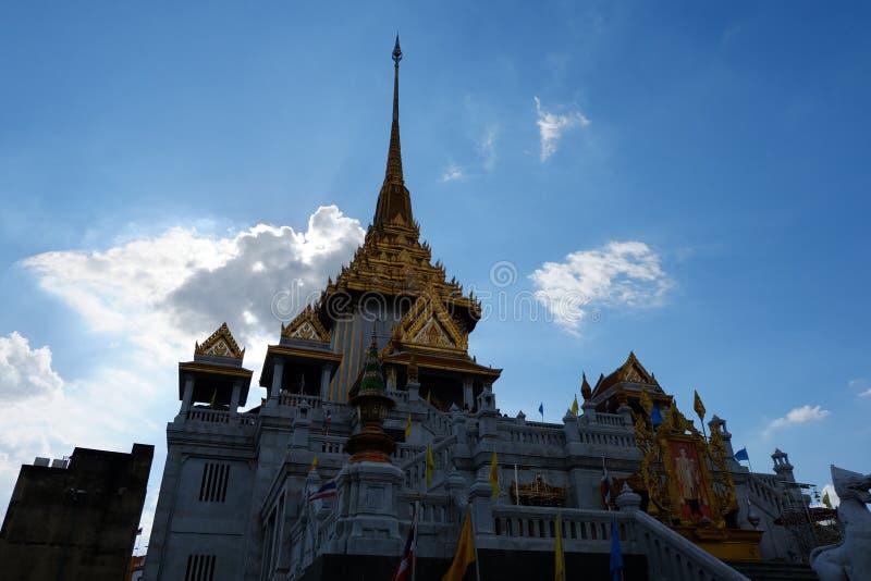 Wat Traimit в BangkokTemple золотого Будды в Чайна-тауне стоковое фото