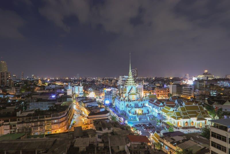 Wat Traimitr Withayaram in Bangkok, Thailand. stock images