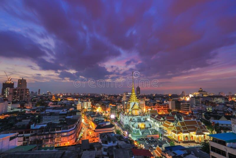 Wat Traimitr Withayaram in Bangkok, Thailand. stock photo