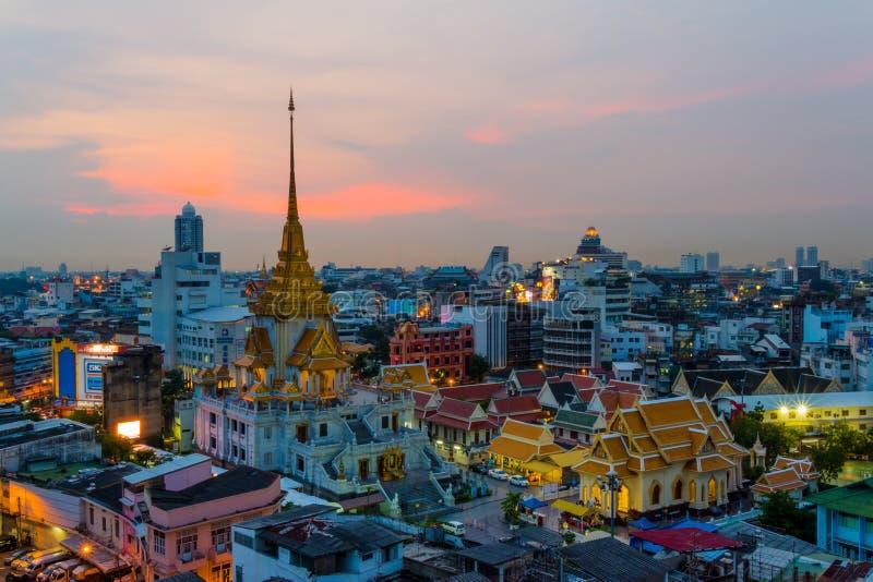 Wat-traimitr withayaram Tempel in Bangkok, Thailand stockfoto