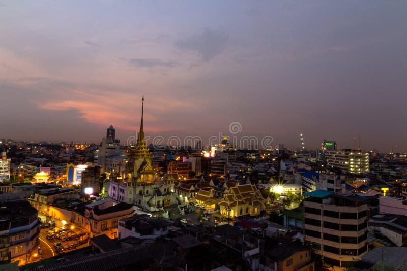 Wat-traimitr withayaram Tempel in Bangkok, Thailand lizenzfreie stockbilder