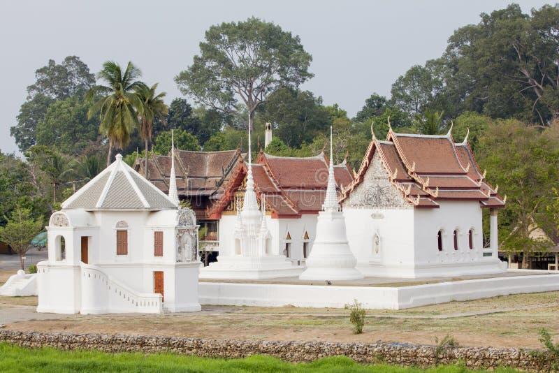 Wat Uposatharam古老泰国寺庙在Uthai Thani,泰国 免版税库存图片