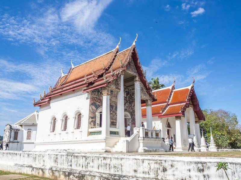 Wat Uposatharam学校寺庙 库存图片