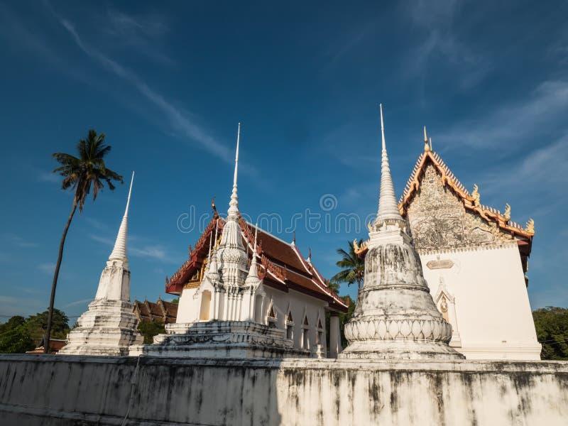 Wat Uposatharam,佛教寺庙 免版税图库摄影