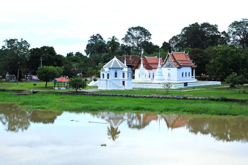 Wat Uposatharam (Wat马胃蝇蛆)寺庙 库存图片
