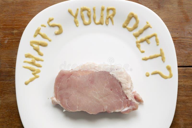 Wat uw dieet is stock foto