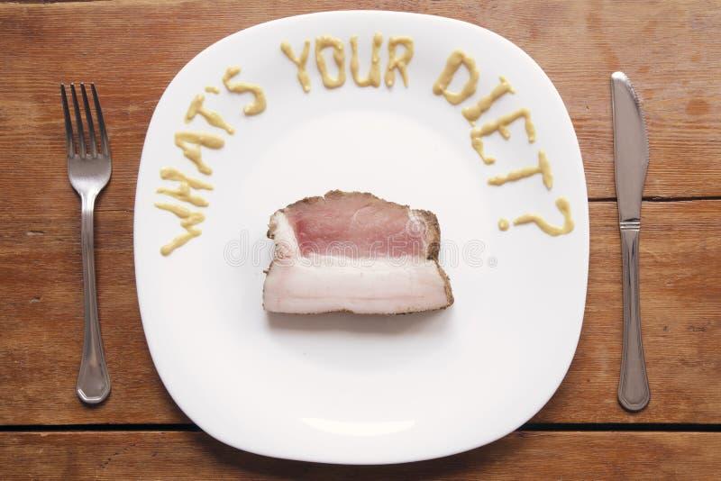 Wat uw dieet is royalty-vrije stock afbeeldingen