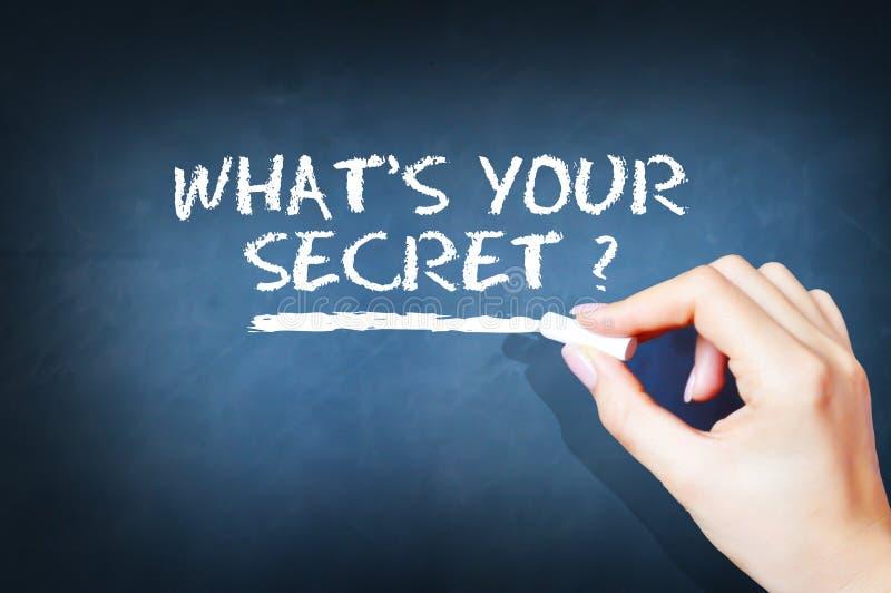 Wat uw geheime vraag is stock afbeeldingen