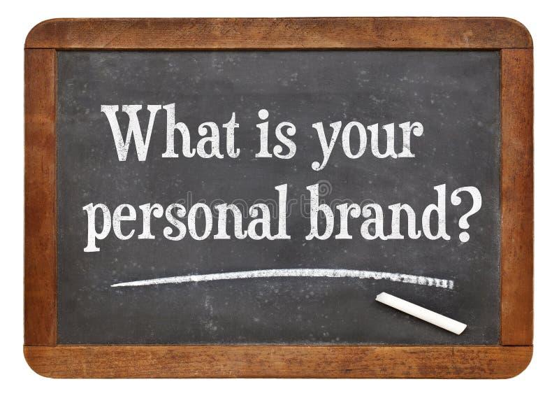 Wat is uw persoonlijk merk? royalty-vrije stock foto's