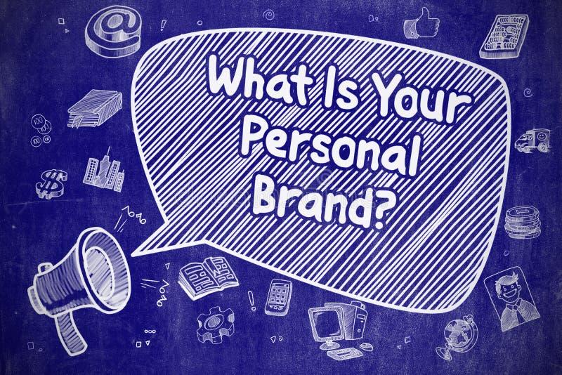Wat Uw Persoonlijk Merk - Bedrijfsconcept is royalty-vrije illustratie