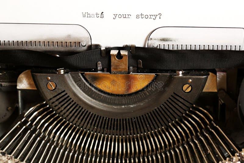 Wat is uw verhaal? royalty-vrije stock afbeeldingen