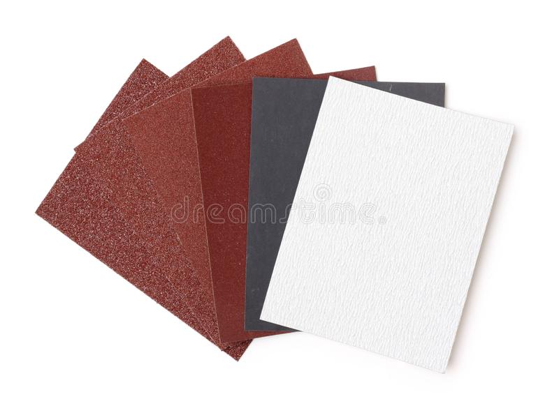 Wat verschillend gruisschuurpapier stock fotografie