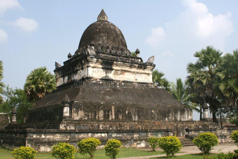 Wat Visoun Stupa在琅勃拉邦 免版税库存照片