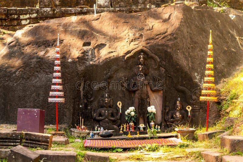 Wat w Południowym Laos Phu fotografia stock