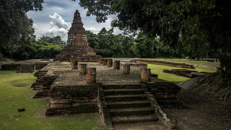 Wat Wiang Kum Kam, Chiang Mai, Tailândia fotografia de stock
