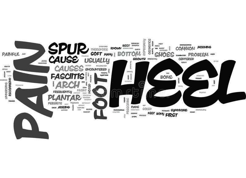 Wat Word van de Hielpijn Wolk is stock illustratie