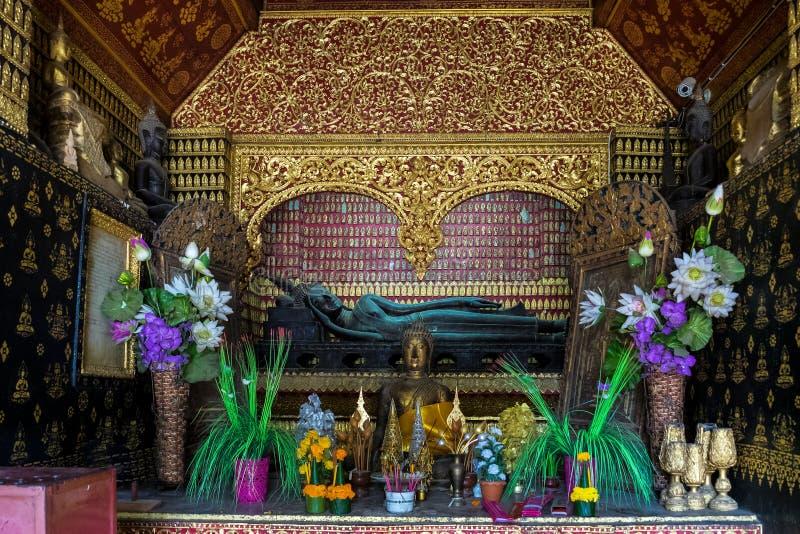 Wat Xieng Thong ou le temple d'or de ville dans Luang Prabang, Laos photos libres de droits