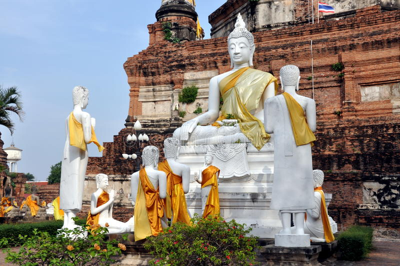 wat yai Таиланда mongkon chai ayutthaya стоковое фото rf