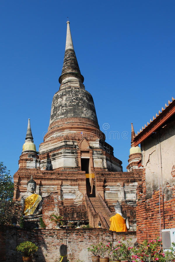 Download Wat Yai Chai Mong Khon stock image. Image of temple, ayutthaya - 12026827