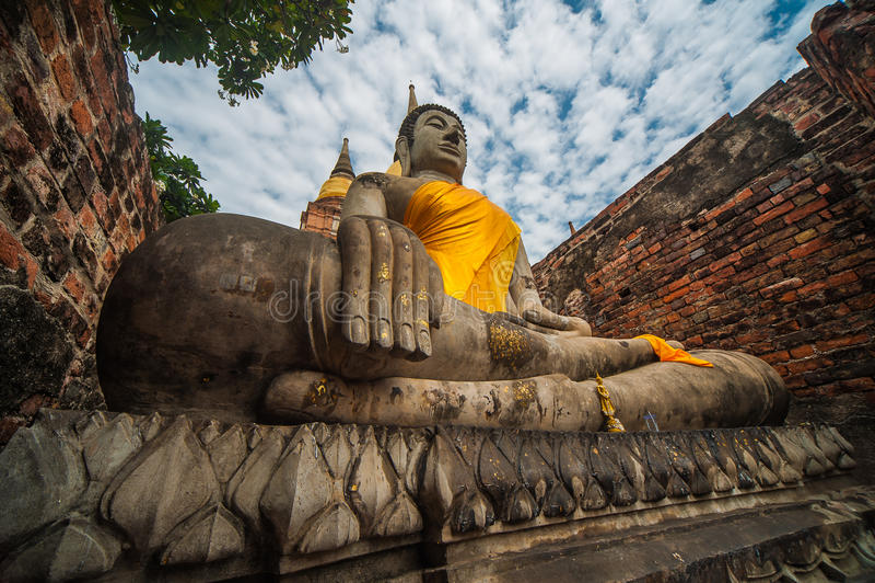 Wat Yai Chai Mongkhon royalty-vrije stock fotografie
