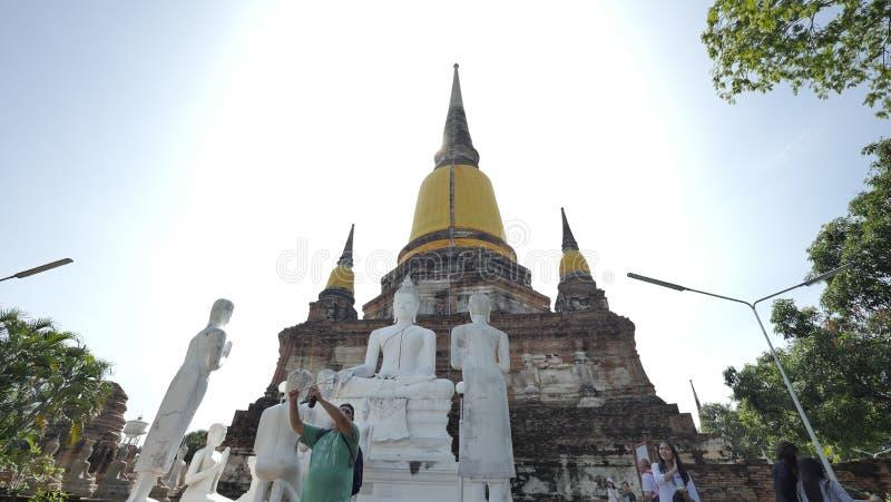 Wat Yai Chai Mongkhon imagem de stock