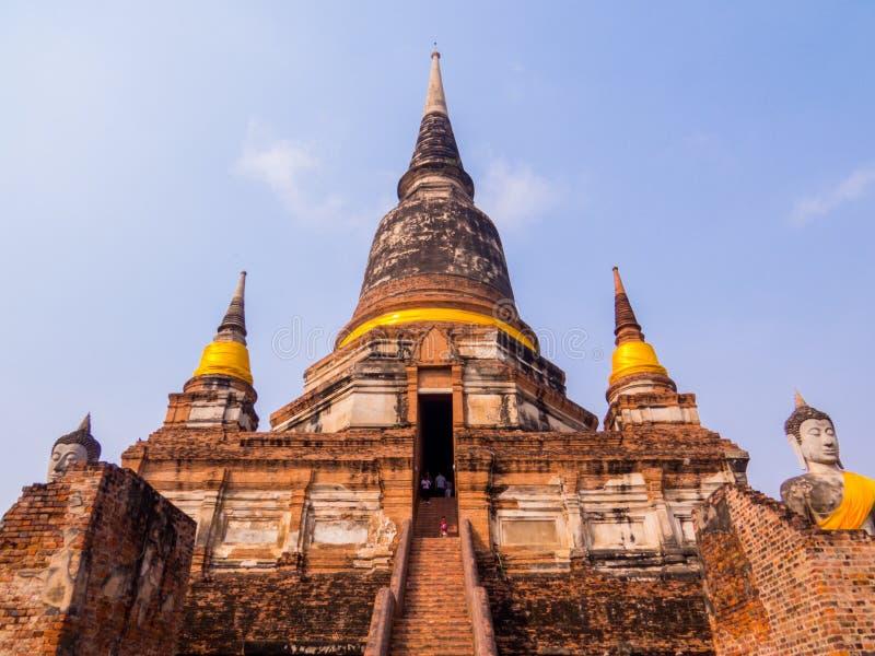 Wat Yai Chai Mongkhon, Historic City of Ayutthaya, Thailand stock photography