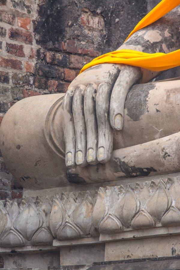 Wat Yai Chai Mongkol à Ayutthaya Thaïlande image stock