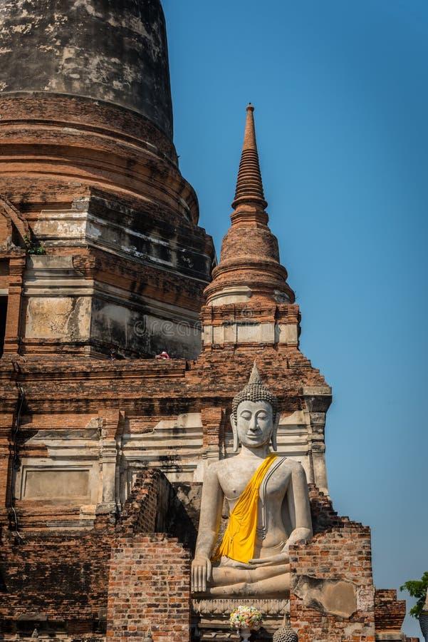 Wat Yai Chai Mongkol στο ιστορικό πάρκο Ayutthaya Το Monaster στοκ φωτογραφίες με δικαίωμα ελεύθερης χρήσης