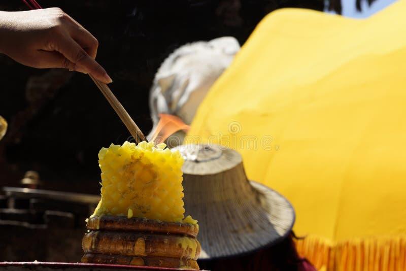 Wat Yai Chai Mongkol, Ayutthaya, Tailândia foto de stock royalty free