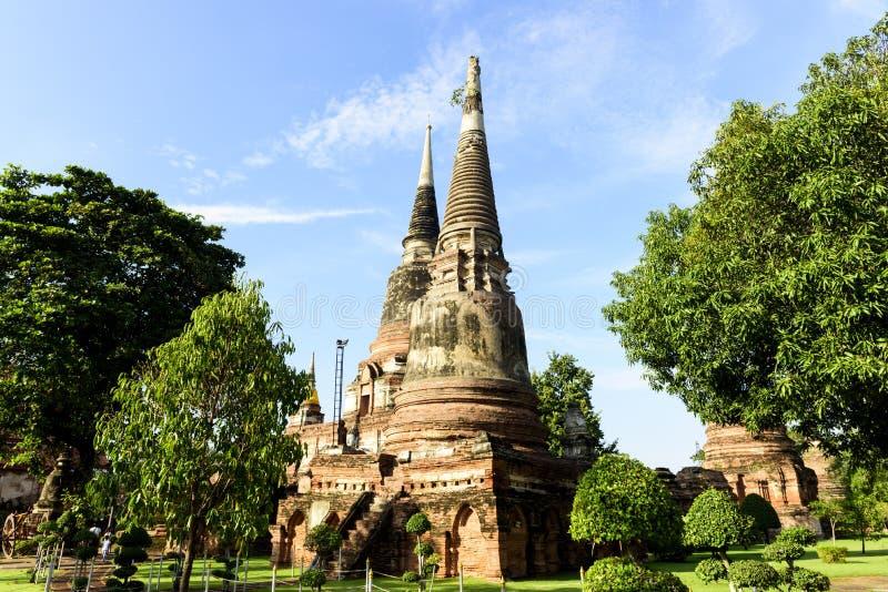 Wat Yai Chai Mongkol, Ayutthaya, Tailândia imagens de stock royalty free