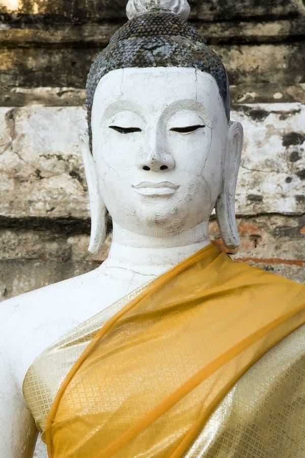 Wat Yai Chai Mongkol Buddha fotografía de archivo
