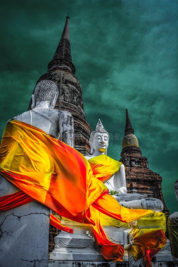 Wat Yai Chai Mongkol, Tailandia imagen de archivo libre de regalías