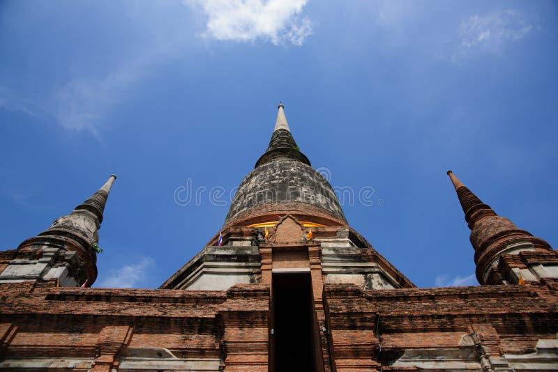 Wat Yai Chai Mongkol Temple imagens de stock