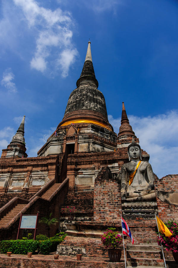 Wat Yai Chai Mongkol Temple fotos de stock royalty free