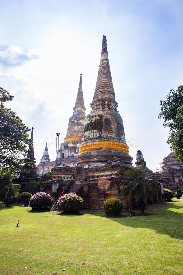 Wat Yai Chai Mongkon à Ayutthaya images stock