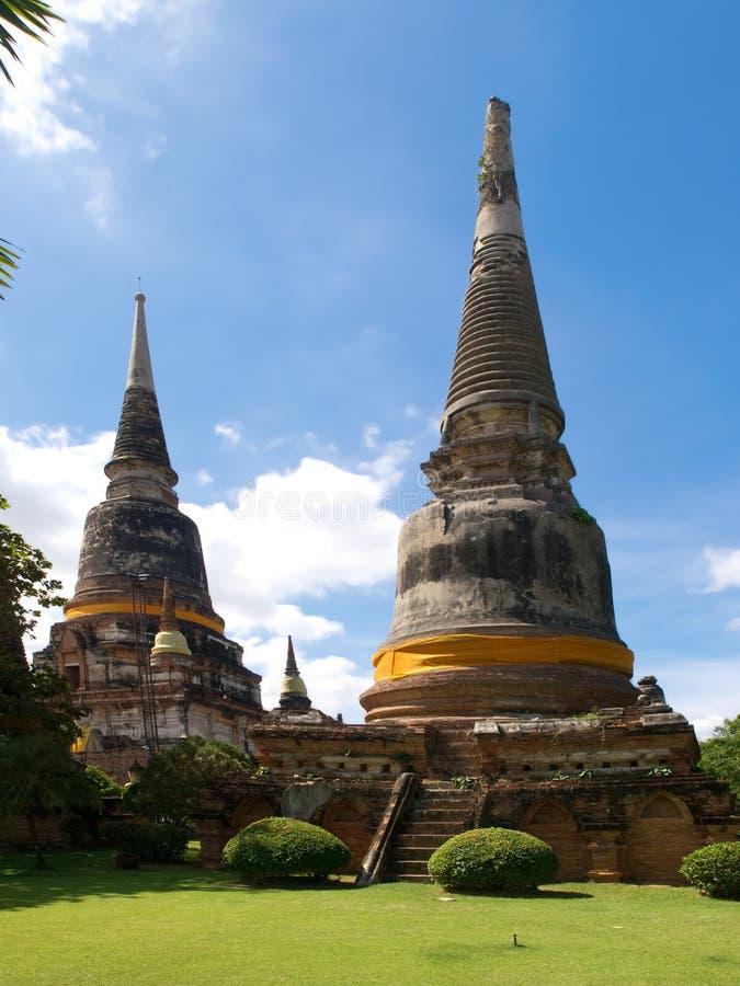 Wat Yai Chai Mongkon i Ayutthaya arkivfoto