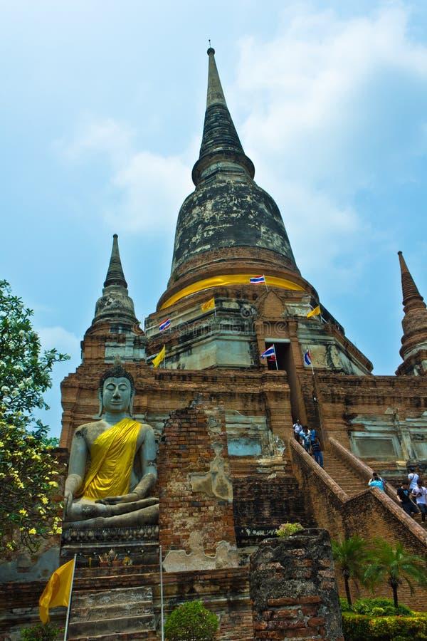 Free Wat Yai Chaimongkhon In Ayutthaya , Thailand Royalty Free Stock Photo - 19218815