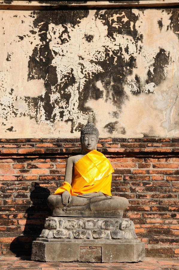 Wat Yai Chaimongkol, Таиланд стоковое изображение