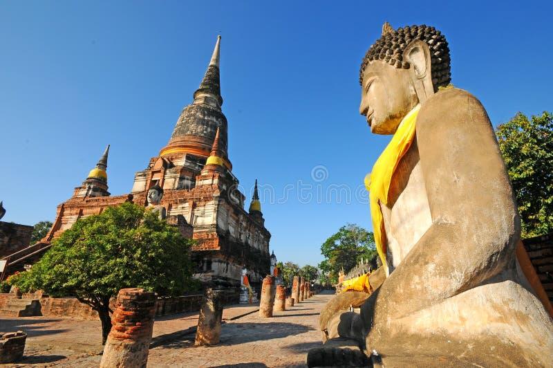 Wat Yai Chaimongkol, Таиланд стоковая фотография rf