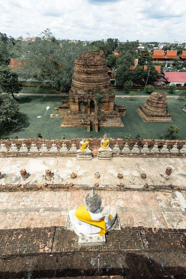 Wat Yai Chaimongkol, ЮНЕСКО организации положения культурное стоковая фотография rf