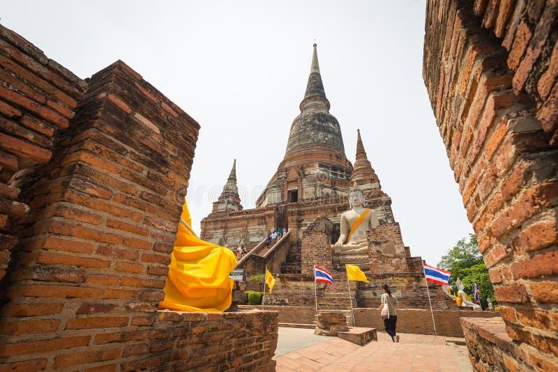 Wat Yai Chaimongkol lizenzfreie stockfotografie