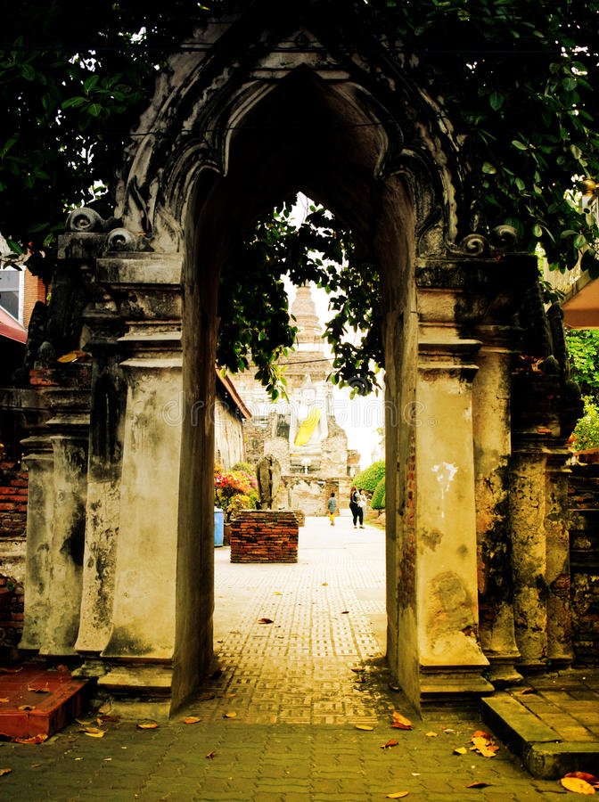 Wat Yai Chaimongkol photos libres de droits