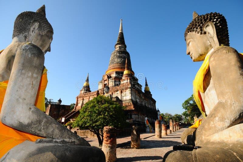 Wat Yai Chaimongkol, Ayutthaya, Таиланд стоковые изображения rf